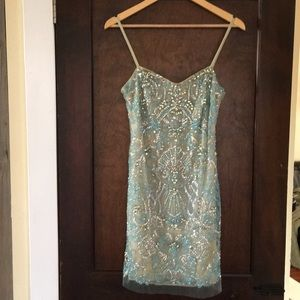 Sequined/beaded cocktail dress